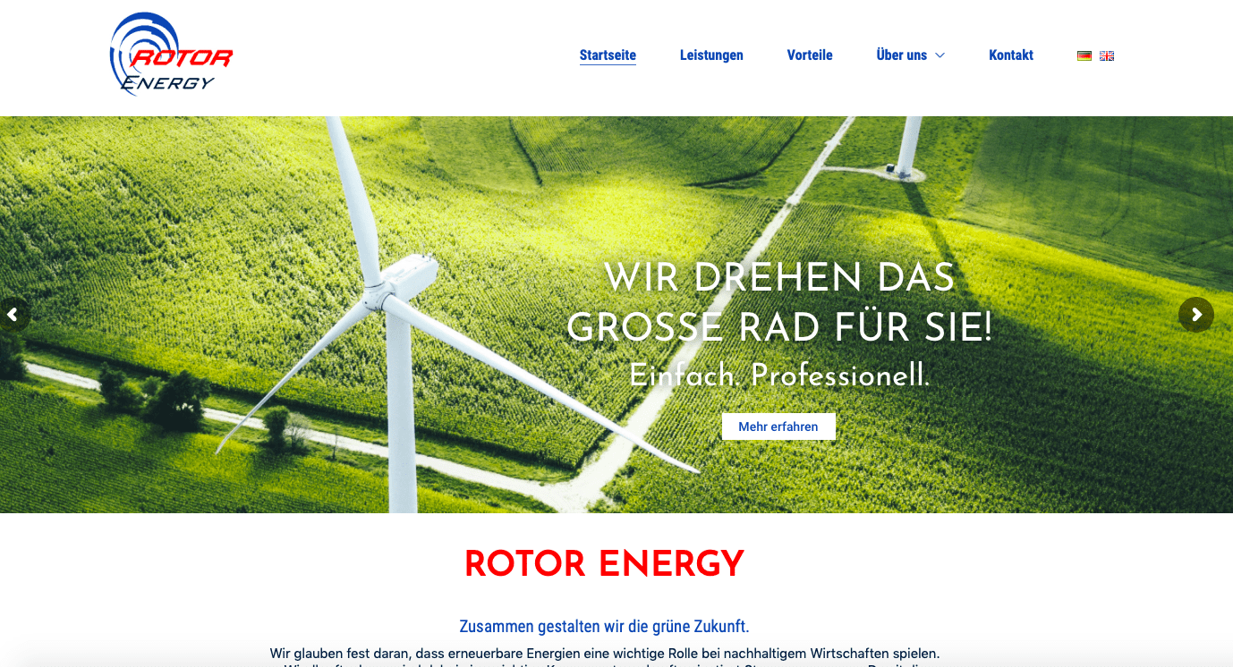 SEO Websitetexte RotorEnergy