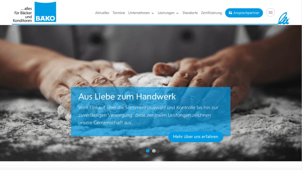 Websitetexte BÄKOBäcker