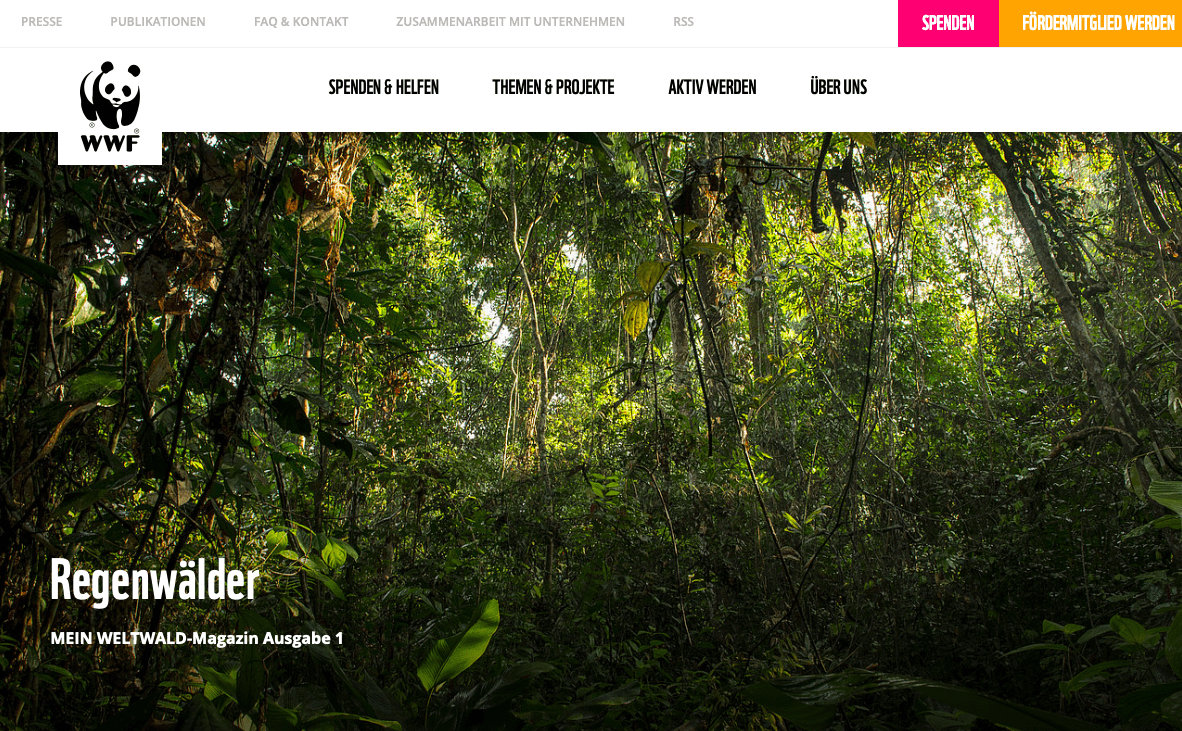 Beratung WWF Magazin Wald erste Ausgabe