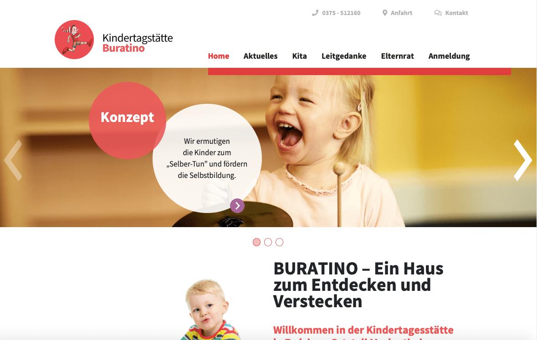 Kindergarten Buratino Websitetexte
